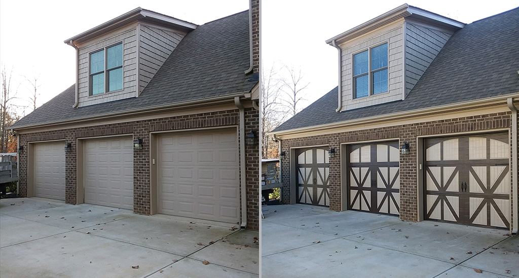 Before and After Garage Door Remodeling