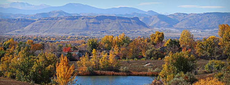 Stanley Lake to the West in Fall