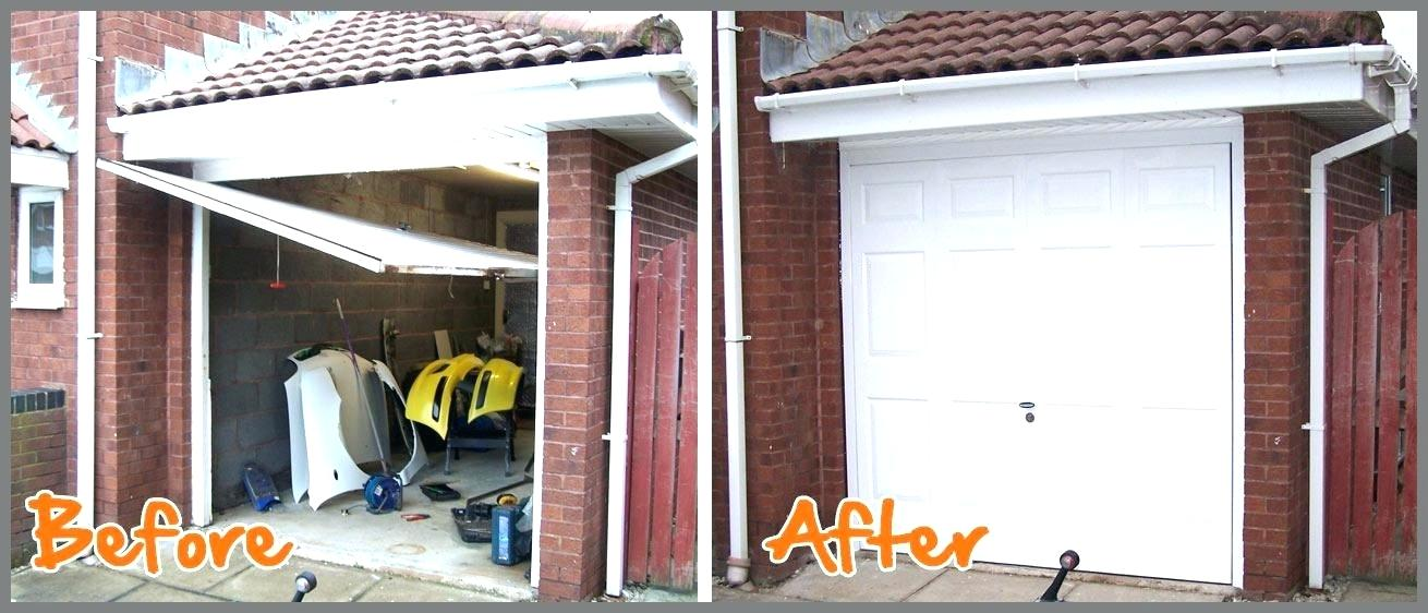 Before and After Garage Door Replacement