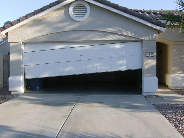 Garage door letting you down