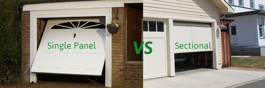 Single Panel Vs Sectional Garage Doors